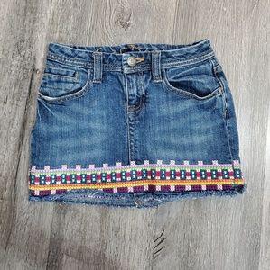Gap Denim Embroidered Edge Jean Skirt